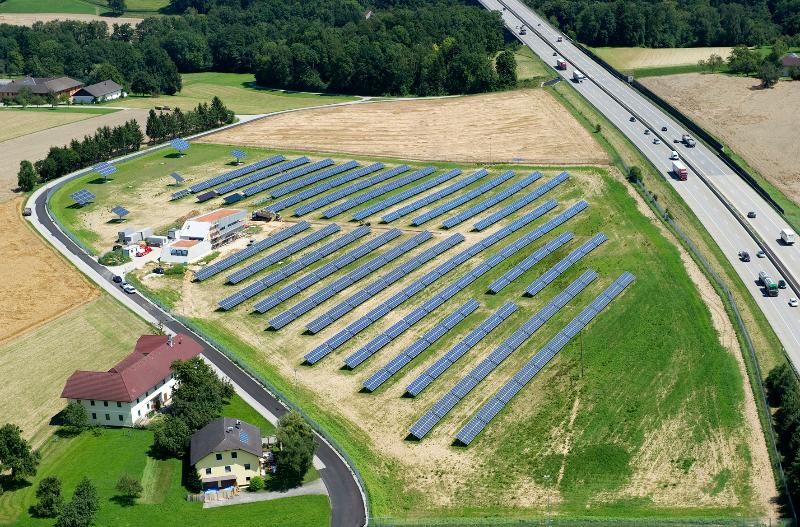 Freiflächenanlage Eberstalzell © Energie AG