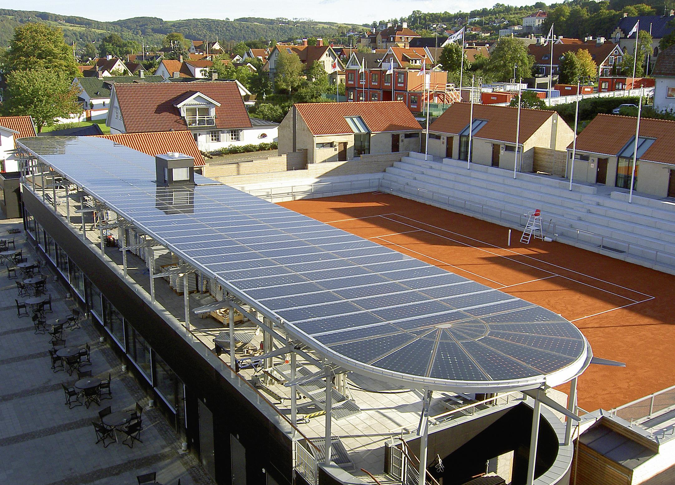 Tennisplatz © Ertex Solar